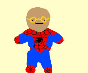 Derpy man /w yello glassess cosplays Spiderman