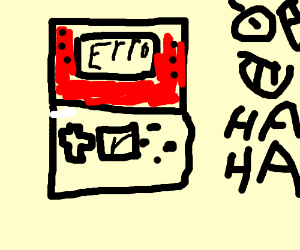 Hey! You snapped my 3DS in half! - Drawception