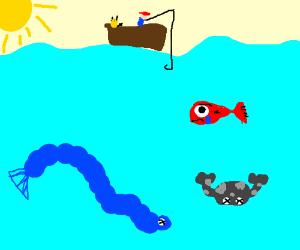 Ugly Gyarados & Geodude (drowning) in sea