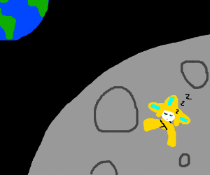 Jirachi Pokemon Sleeping On The Moon Drawing By Onlyredfire