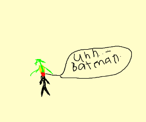Robin stuck to Batman