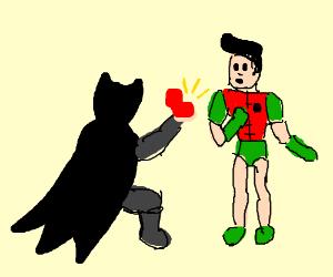Batman asks Robin to marry him