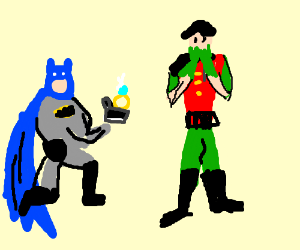 batman proposes to robin