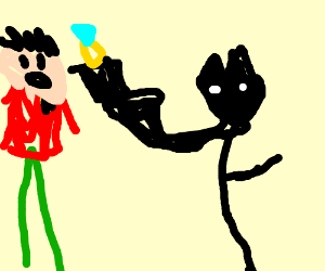 Batman proposes to robin