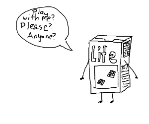 Life Cerealbox wants u to do something with it