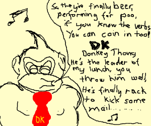 someone getting the dk rap lyrics wrong drawing by shacur drawception
