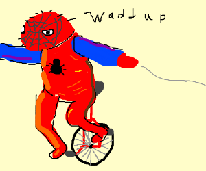 Oh shiz waddup here come dat spoderman