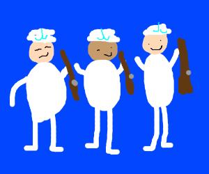 Sailors with riffles