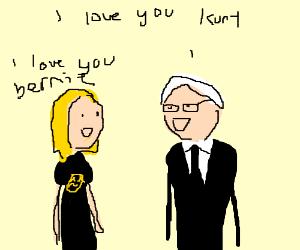 Kurt Cobain and some old guy.