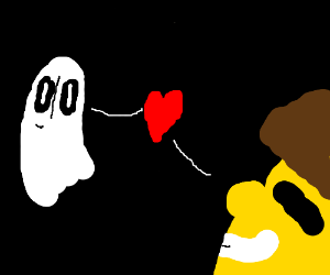 "ghosts ""am i real?"" ""youre real in my heart"""