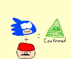 Mario + Sonic = Iluminati confirmed