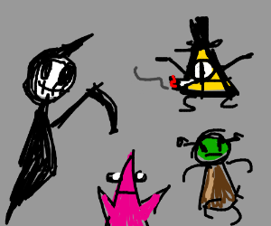 reaper, shrek, high bill cypher, patrik
