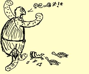 Gentleman Turtle swears at his children.
