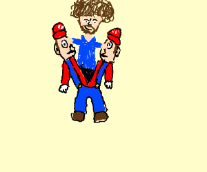 Mario, just kidding its Bob Ross