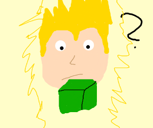 Super Saiyan gets confused by a green box