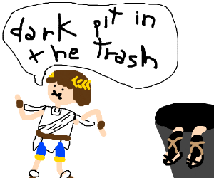 Pit Throws Dark Pit In The Trash Drawing By Beni Feirense Drawception
