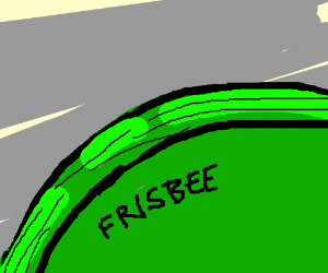 close-up picture of a Frisbee