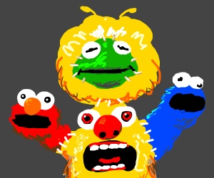 A horrible abomination muppet