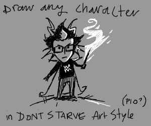 draw any character in don't starve art style