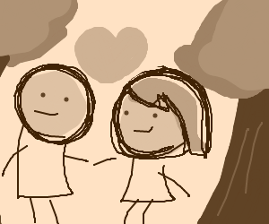 cy&h characters on a date in the woods