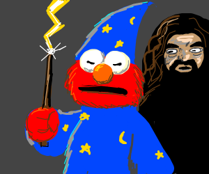 furious Elmo is a wizard now