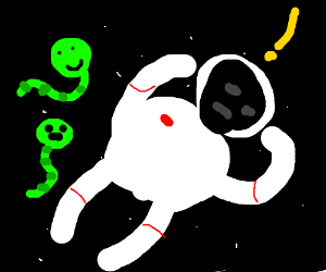 Astronaut Finds Worms