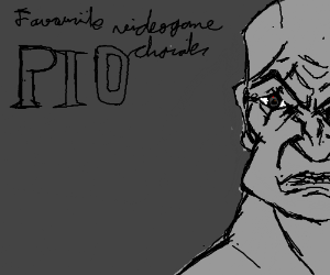 Draw your favorite video game character PIO