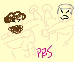 Bob Ross vs  Mr  Rogers - Drawception