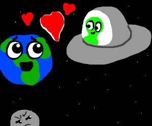 Alien steals the earth's heart