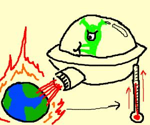 Alien Heats Up Earth