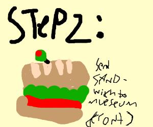 Step 1: Make a sandwich