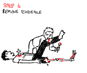 step 6: eat the body to remove evidence