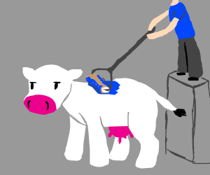Painting a cow