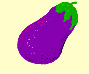 Here is an eggplant