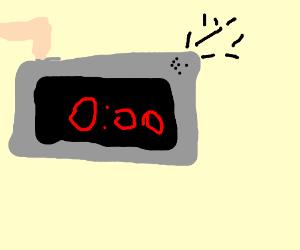 countdown timer at 00