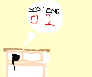 man dreams of bad score