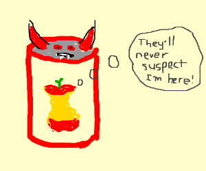 apple core hides in devil can