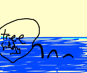 cursing silhouette of the loch ness monster drawing by mememaster420
