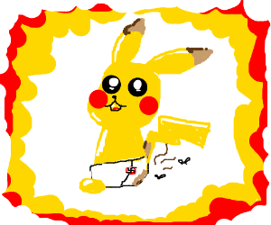 Baby Pikachu Pooped In His Diapers