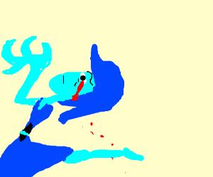 Lapis Lazuli cries blood