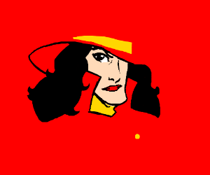 Carmen Sandiego with a huge chin