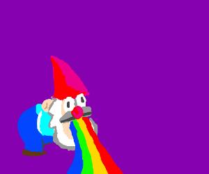 Gravity Falls Gnome Vomiting Rainbows