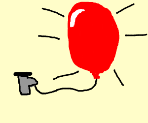 helium pump blows up balloon