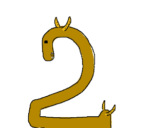 Number 2 has four horns