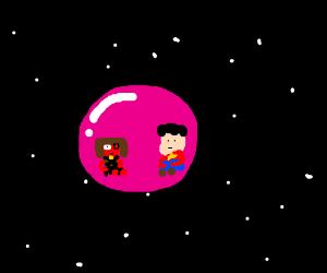 Steven & Ruby stuck in space