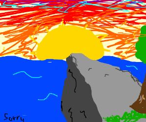 Beautiful sunset. ((text at bottom left?))