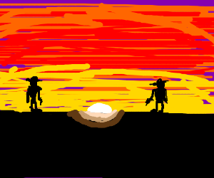 Gunfight at sunset