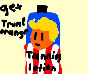 Trump Tanning Lotion (Natural Tone of Orange)