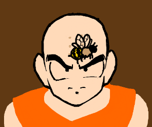 Krillin Keeping his eye on that bee!