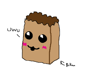 Dillon the kawaii paper bag